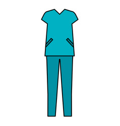 surgeon suit isolated icon vector image