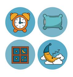 sweet sleep icons vector image