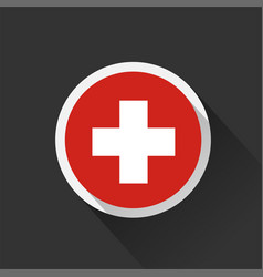 switzerland national flag on dark background vector image