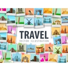 travel logo design template trip or vector image