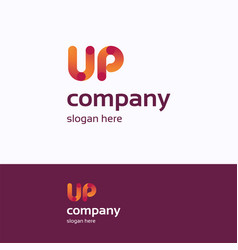Up name logo vector