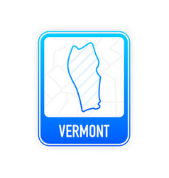 Vermont - us state contour line in white color vector