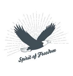 vintage bald eagle silhouette vector image