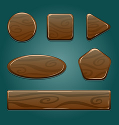 wooden icon game asset vector image