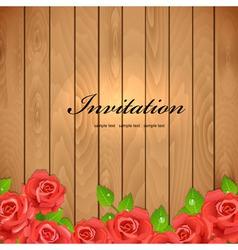 wooden retro rose vector image