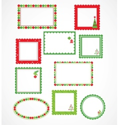 Christmas frames and labales vector image