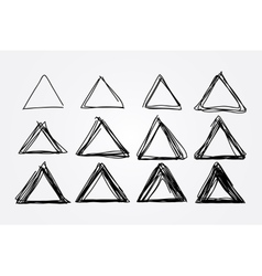 hand drawn doodle triangles design vector image vector image