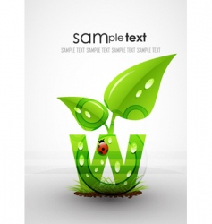 natural themed typography vector image vector image