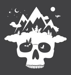 Nature skull vector