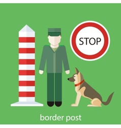 Officer custom control sign vector image