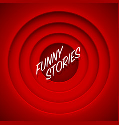 screen movie funny stories red background vector image vector image