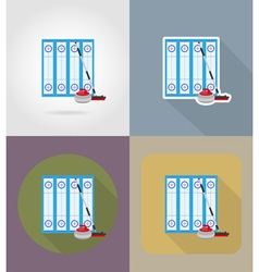 sport flat icons 73 vector image vector image