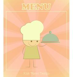 Design of kids menu vector image