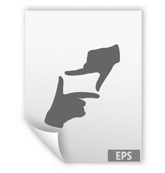 hand lens web icon design vector image