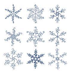 set of vintage christmas vector image