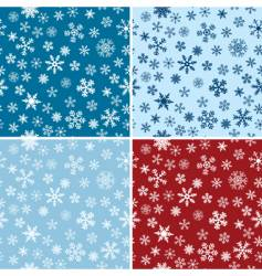 snow seamless backgrounds set vector image vector image