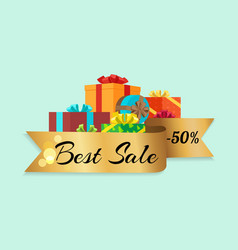 best sale -50 represented on vector image vector image
