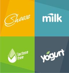 Dairy products logo designs vector image vector image