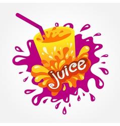 juice drink beverage splash vector image vector image