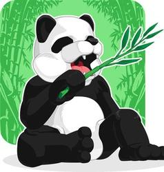 Panda Eating Bamboo Leaves vector image vector image