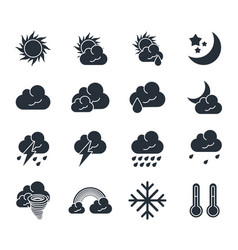 weather icons set vector image