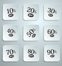 10 off 20 off 30 off 40 off 50 off 60 off 70 vector image vector image