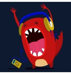 Cute monster graphic vector
