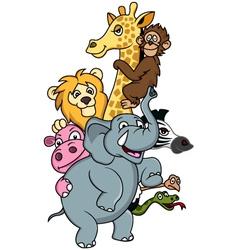 Funni animal cartoon vector image vector image