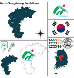 north chungcheong province south korea vector image vector image