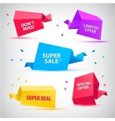 set of colorful sale banners bubbles 3d vector image vector image