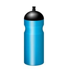 Sport plastic water bottle in blue design vector