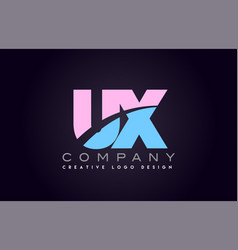 ux alphabet letter join joined letter logo design vector image