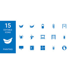 15 painting icons vector