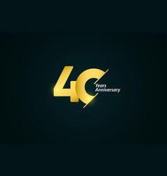 40 years anniversary celebration gold logo vector