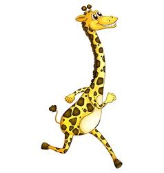 A giraffe running vector