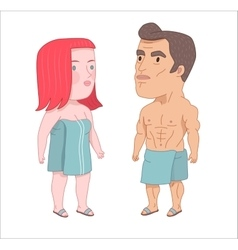 After shower Dodo People collection vector