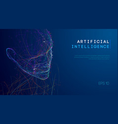 ai digital brain artificial intelligence concept vector image