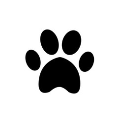 animal pawprint icon isolated on white background vector image
