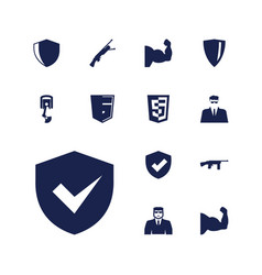 Arms icons vector