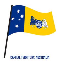 Australian capital territory act flag waving on vector