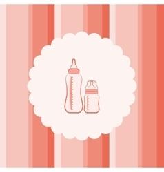 baby feeding bottles vector image