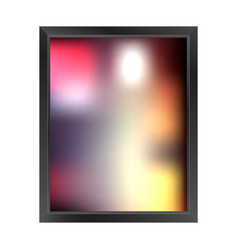 Blurred background with frame vector