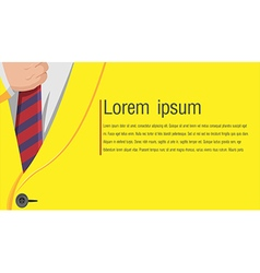 Business yellow suit background style vector