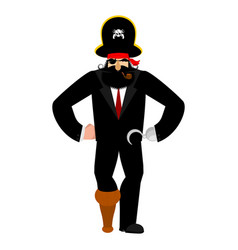 Businessman pirate manager of filibuster business vector