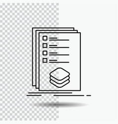 Categories check list listing mark line icon on vector