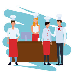 Chef on cash register vector