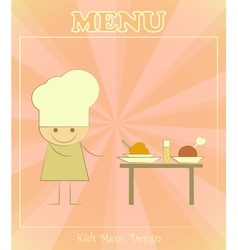 Chefs and served table vector image