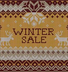 Christmas Sale Scandinavian style seamless knitted vector