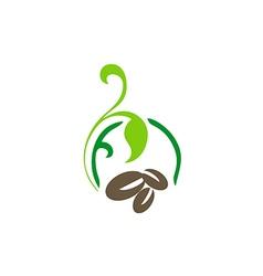 Coffee abstract decorative logo vector