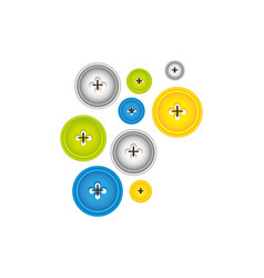Color bubbles with figures icon vector